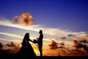 結婚式の様子の写真
