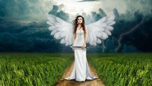 女性の天使のイラスト