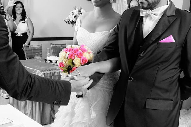 結婚式の写真